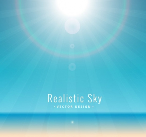 Shiny Realistic Sky Background Vector