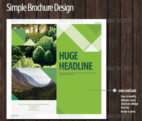Simple Green Brochure Design
