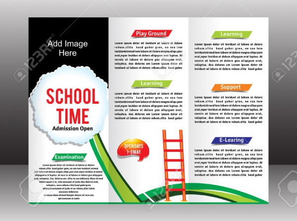 Simple Kindergarten Brochure Template