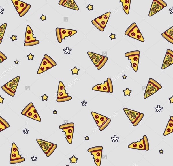 Simple Pizza Vector Pattern