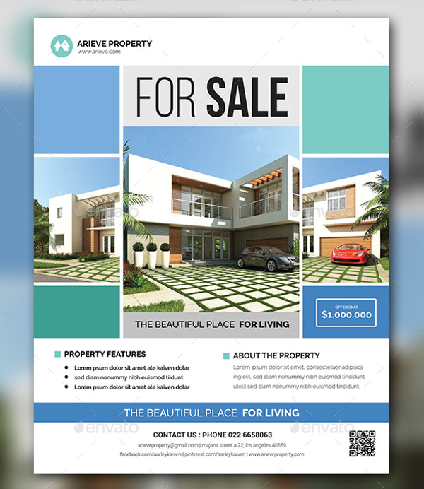 Real Estate Flyer Templates PSD Vector EPS JPG Download - Real estate advertisement template