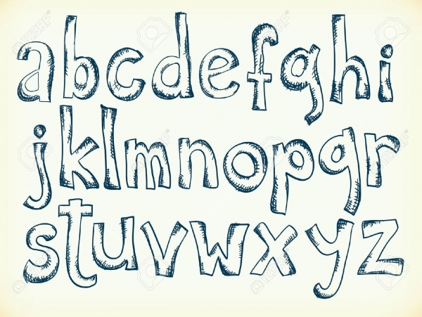 Sketchy Pen Drawn Cartoon Font