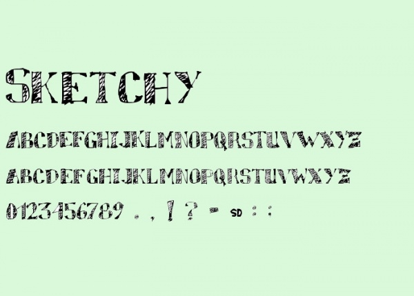 Sketchy Regular Striped Font