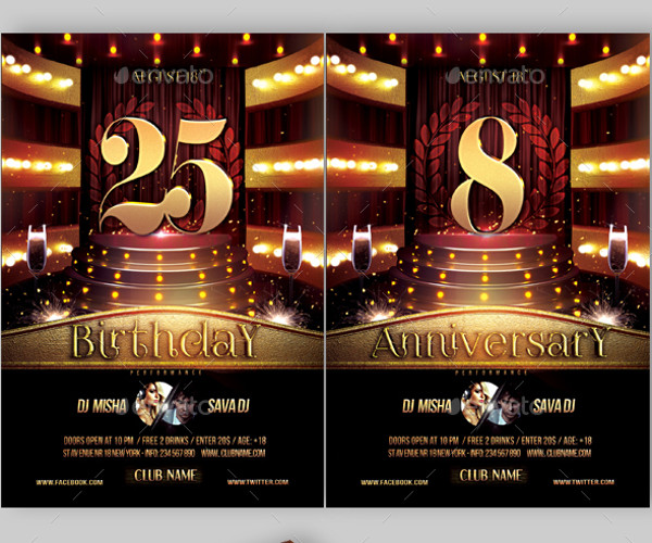19 Anniversary Flyer Templates PSD Vector EPS JPG Download – Anniversary Flyer