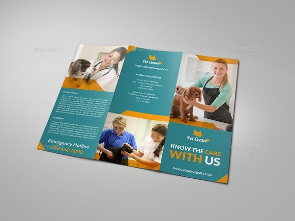 Smart Layered Veterinarian Clinic Brochure