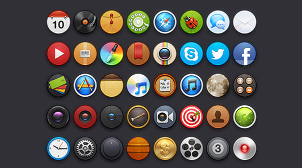 Social Media Icons Circle Line