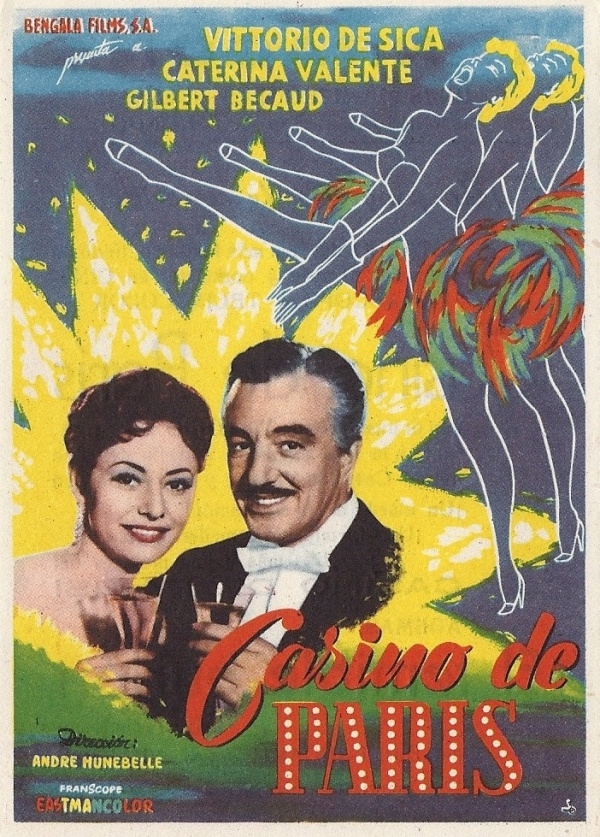Spanish cinema vintage flyer
