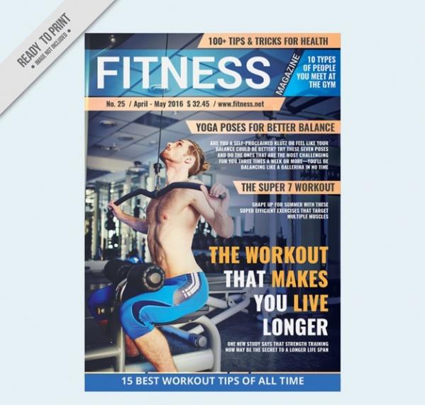 Sport magazine fitness Brochure