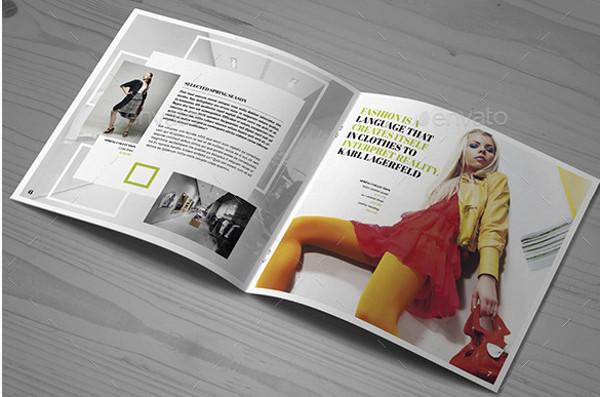 Square Fashion Brochure Template