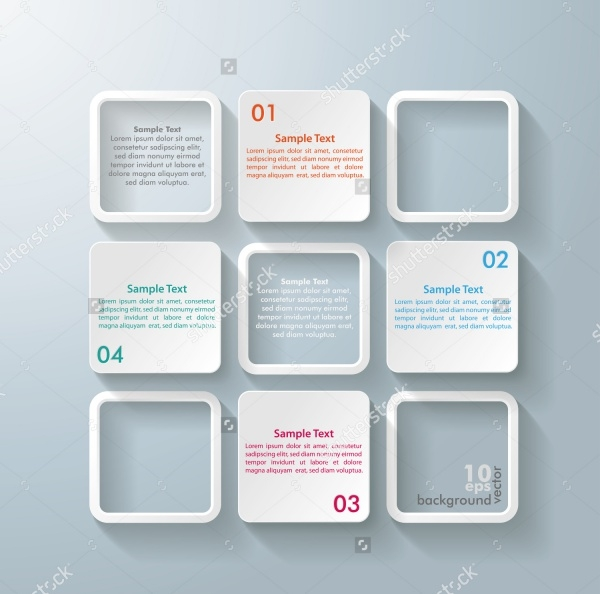 Square Infographics Vector Design