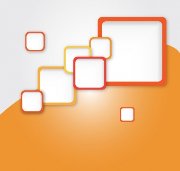 Square Orange Background Vector