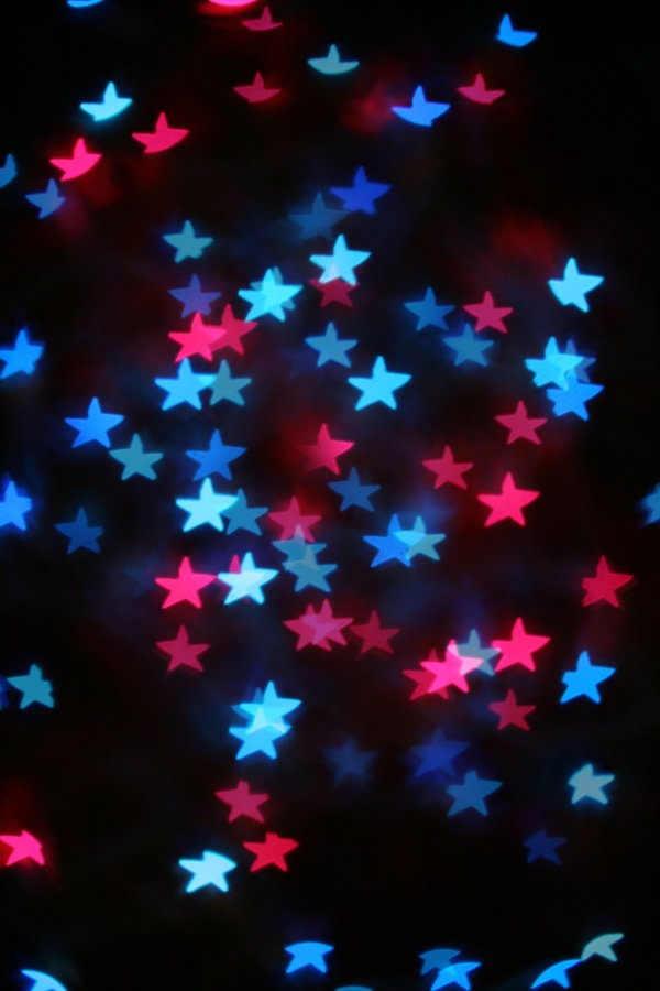 Stars Texture On Blurred Background