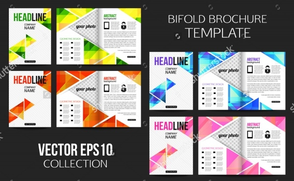 Stationery Bi-fold Brochure Template