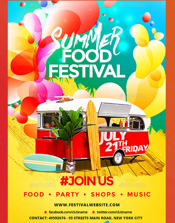 Summer Food Festival Flyer