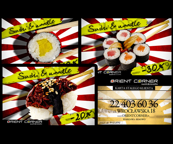 Sushi Restaurant Bar Flyer