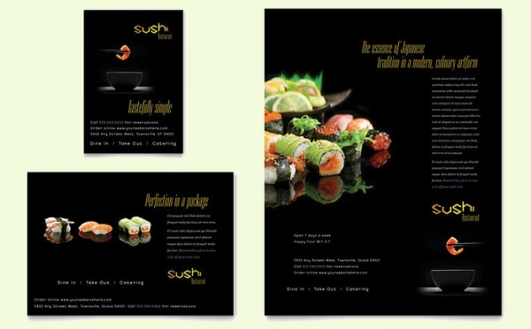 Sushi Restaurant Flyer & Ad