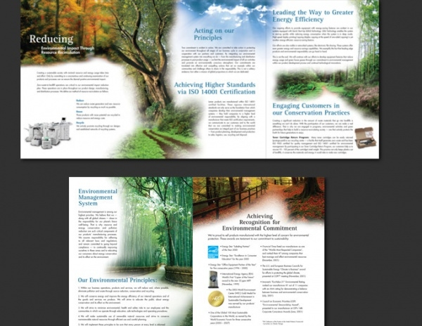 Sustainable Environmental Brochure Design