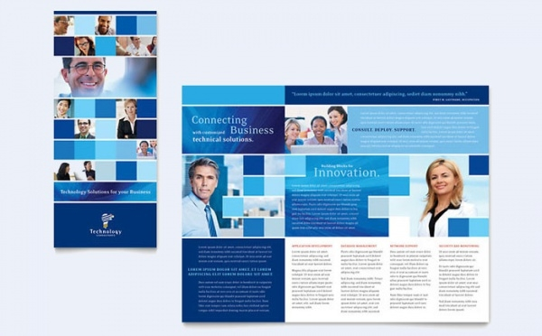 technology consulting tri fold brochure