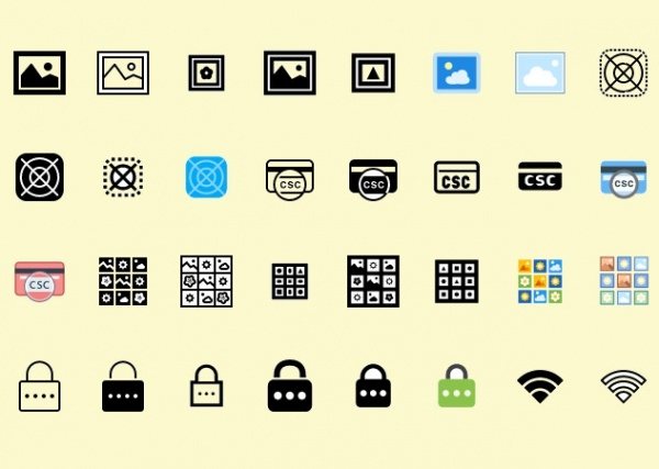 Thin Outlined Security Icons