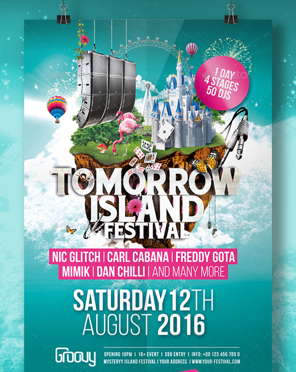Tomorrow Island Festival Flyer