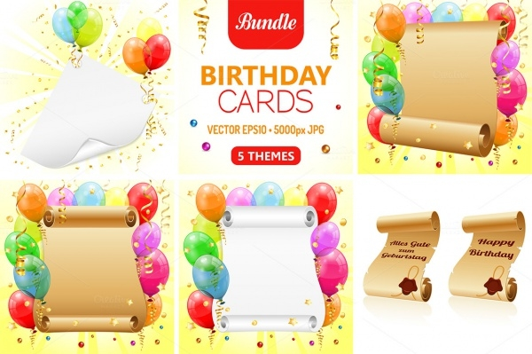 Transparent Birthday Cards Decoration Brochure