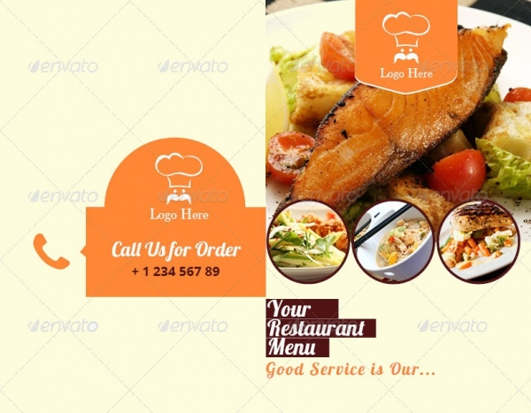 Tri Fold Catering Brochure Template