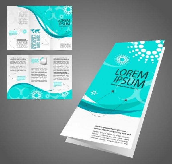 turquoise folded brochure design
