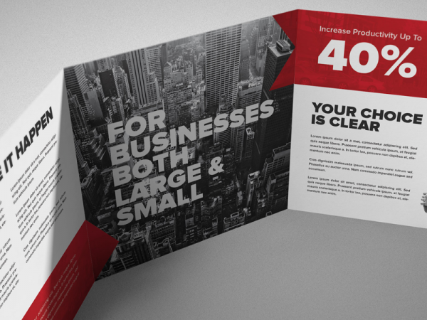 Typography Square Tri-fold Brochure
