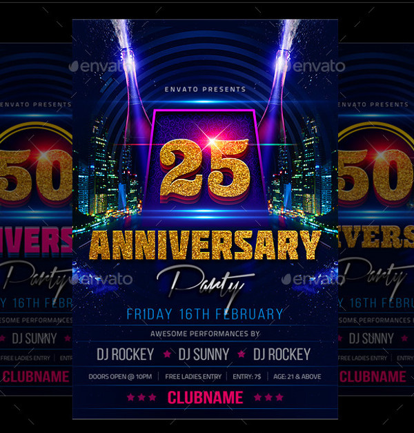 Anniversary Flyer | 25 Anniversary Flyer Templates Psd Vector Eps Jpg Download