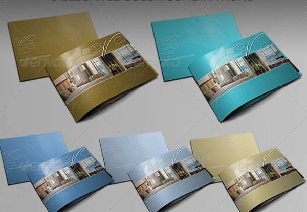 Unique Hotel Brochure Template