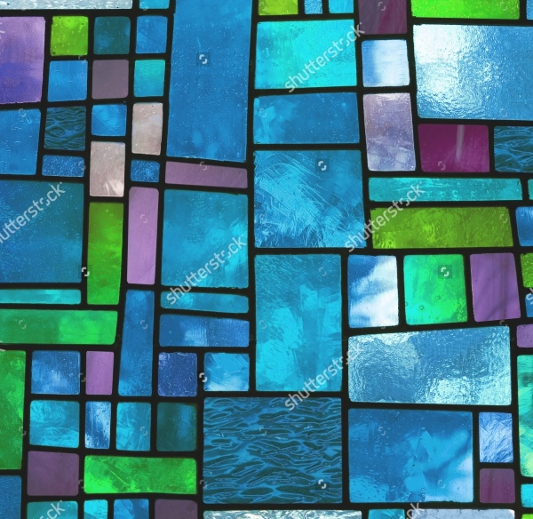 Vector Irregular Glass Block Pattern