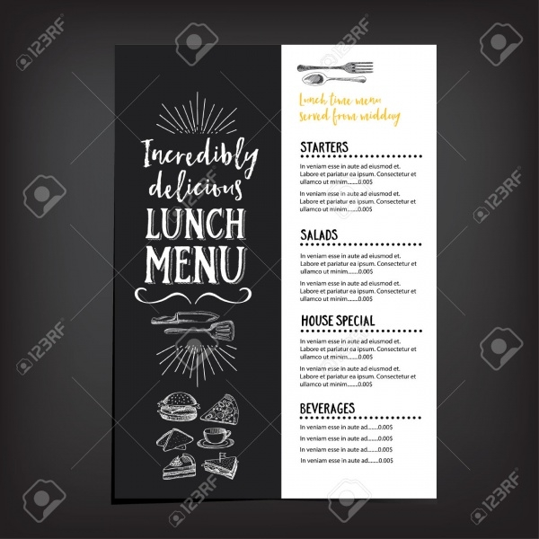 Vector Restaurant Brochure Menu