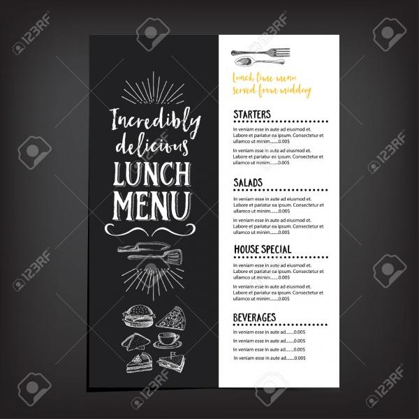 Vector Restaurant Brochure Menu