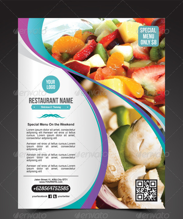 Veggie Restaurant Promotion Flyer