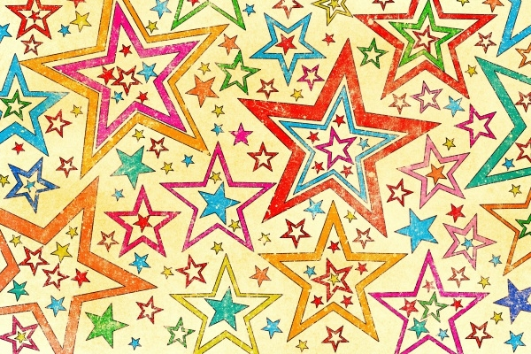 Vintage Bright Stars Texture
