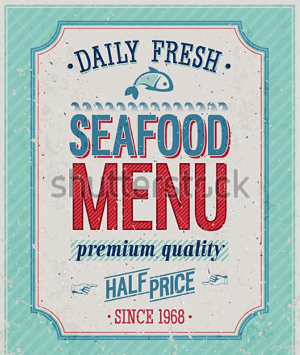 Vintage SeaFood Poster Flyer