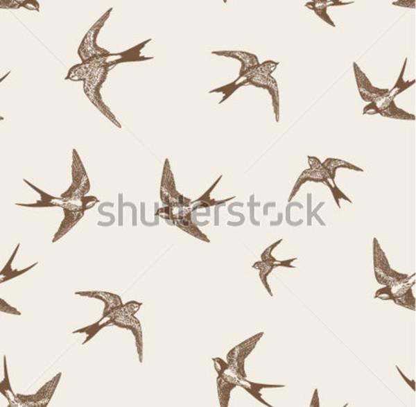 Vintage Swallows Pattern