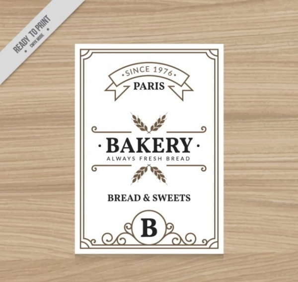 Vintage bakery flyer template