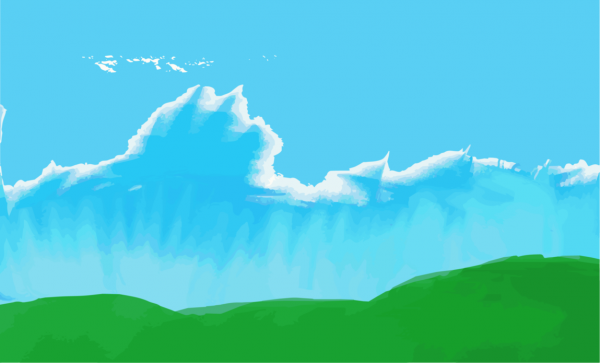 Watercolor Painted Sky Vector