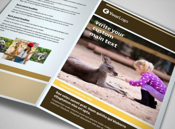 Wild Animal Park Tri-Fold Brochure