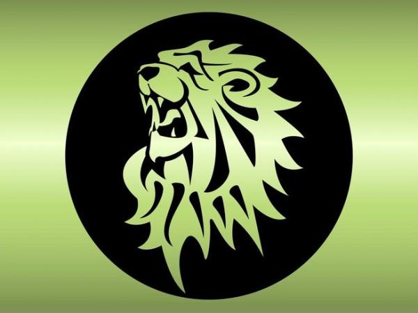 Wild Lion Badge Vector