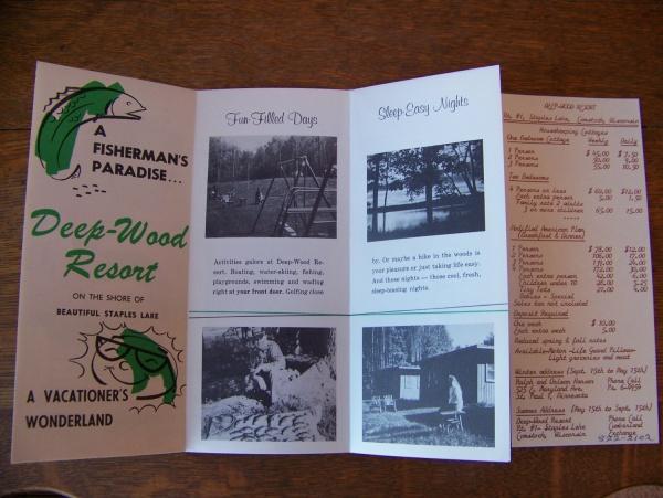 Wood Resort Wisconsin Vacation Brochure