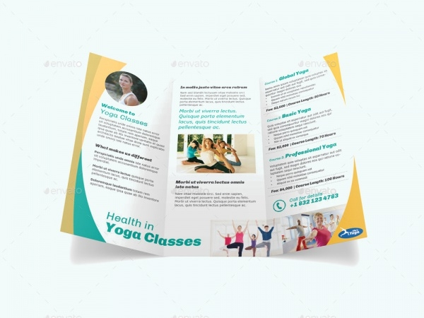 Yoga Fitness Business Brochure