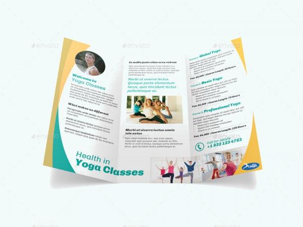 Yoga Fitness Business Brochure