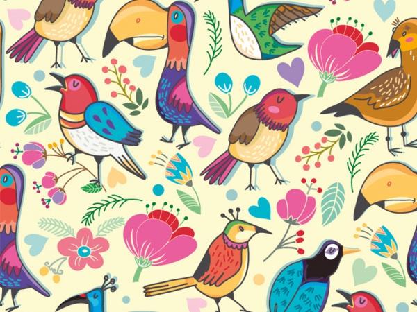 Marushabelle Seamless Birds Pattern