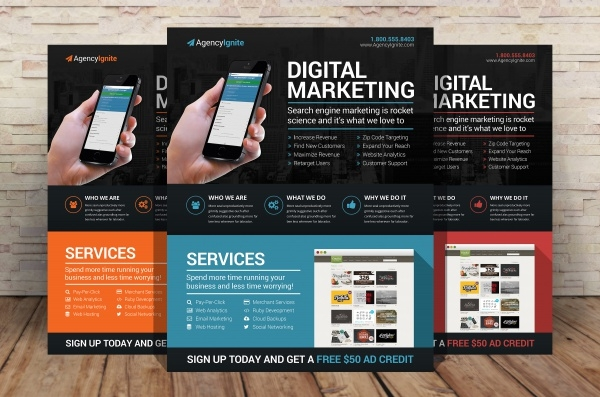 Digital Marketing Advertising Flyer PSD