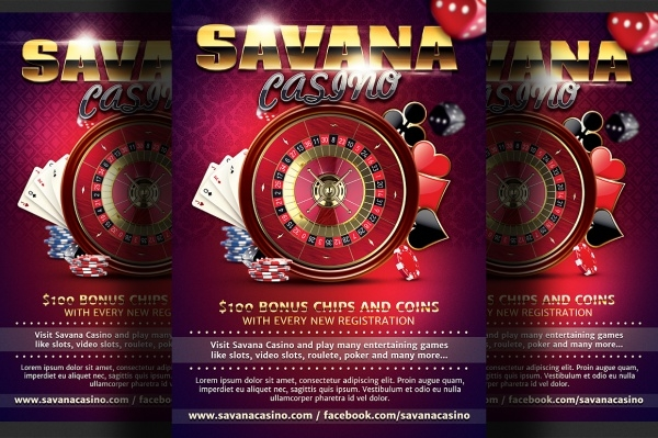 Casino Ad Flyer Template