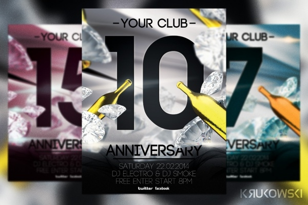 Retro Poster Anniversary Flyer