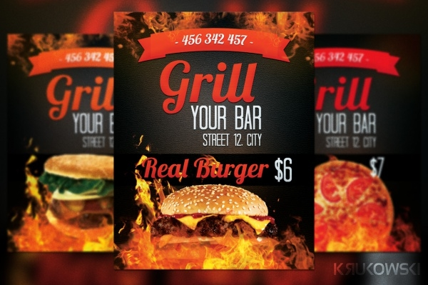 Barbecue Grill Bar Flyer