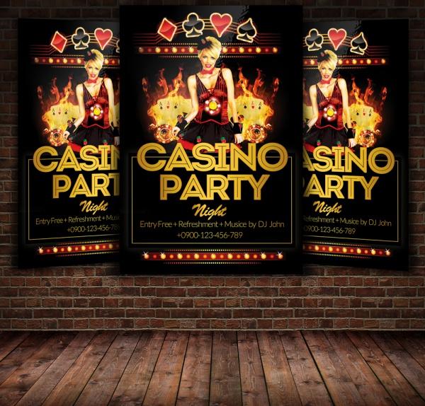 Casino Disco Party Flyer